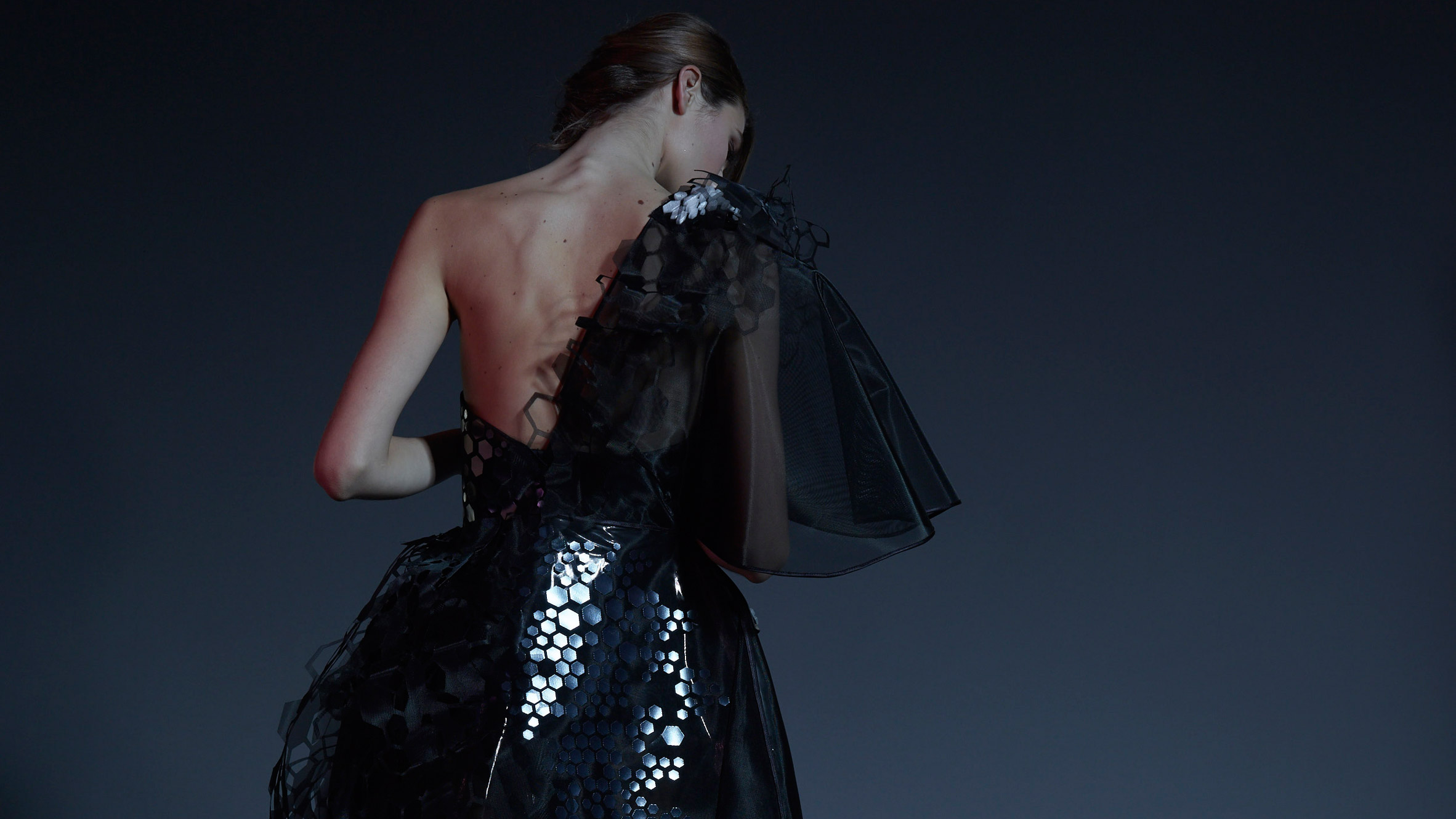 First dress made with graphene by Cute Circuit