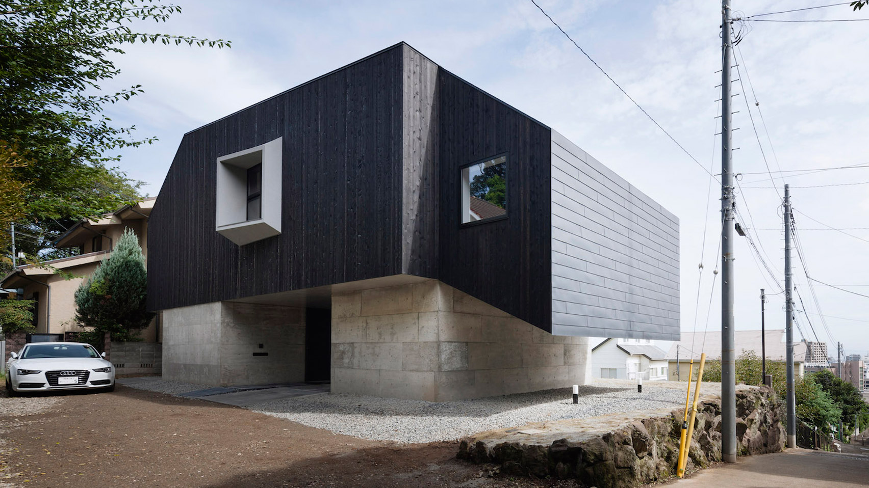 Cubo Design Architect Pairs Blackened Wood With Concrete For House In Coastal Japanese City