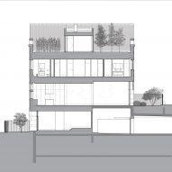 Section of Lincoln Park Townhouse by HBRA