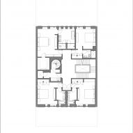 Plan of Lincoln Park Townhouse by HBRA