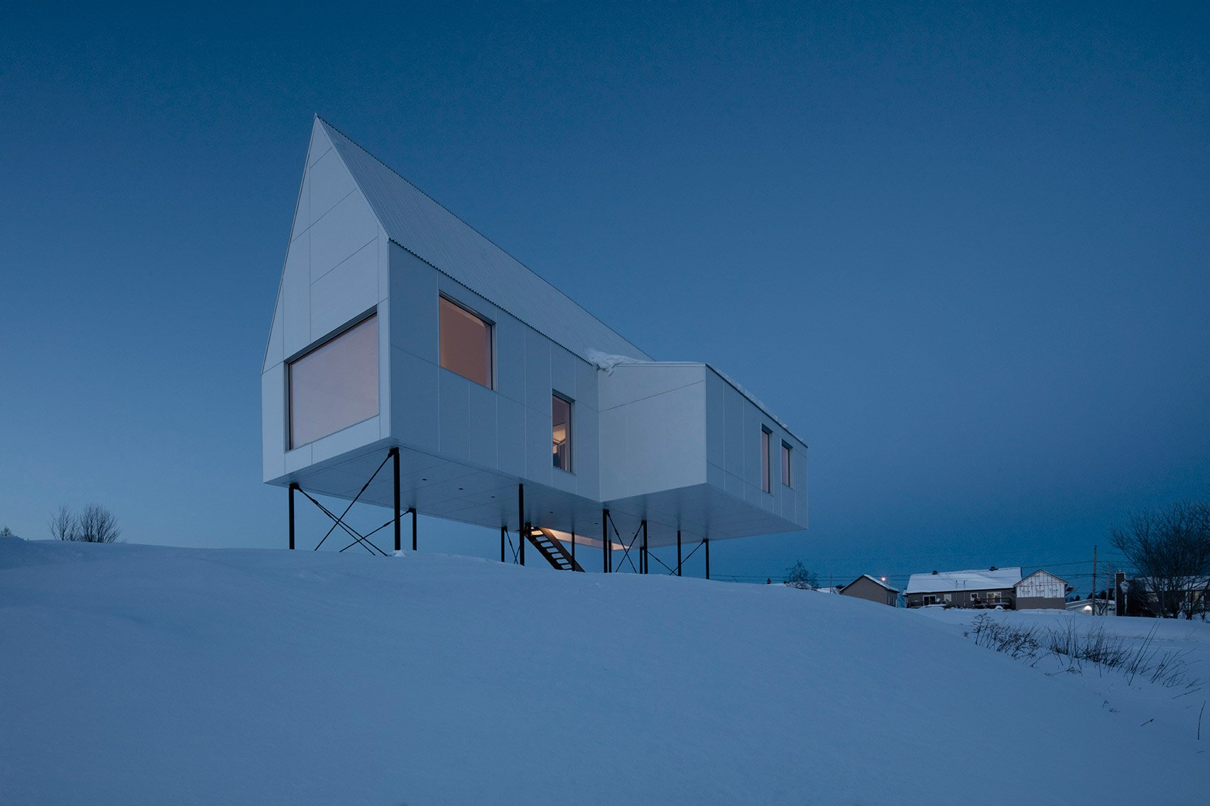 Delordinaire raises High House above snowy Quebec countryside to