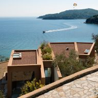 Greek island home by Lydia Xynogala fans out to maximise sea views