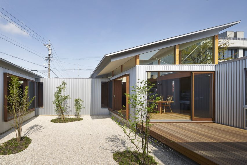 Arii Irie Architects uses angled windows and tilted roofs for