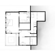 Plan of A House with a View by Axelrod Architects