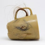 Krisztina Czika makes mugs using human hair and leg wax
