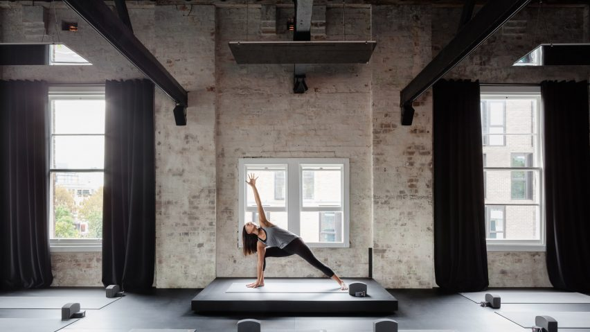 Karen Abernethy creates multi-sensory yoga studio in converted Sydney warehouse