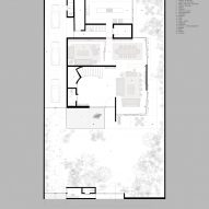 Plan for Sierra Fria house by JJRR Arquitectura