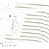 Plan for L'Angolo Estate by Lever Architecture