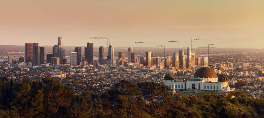 Los Angeles skyline in 2030