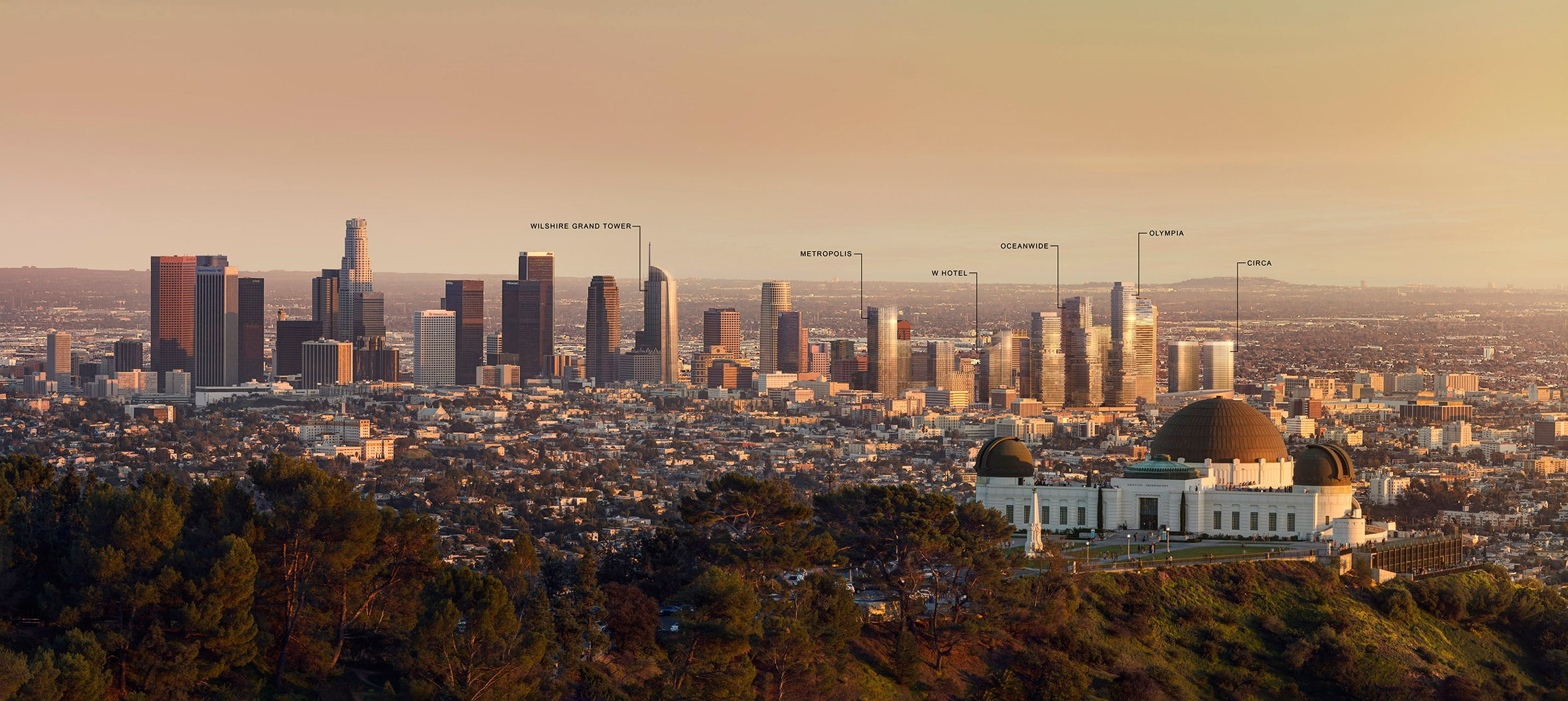 Visualisation reveals how the Los Angeles skyline might look in 2030