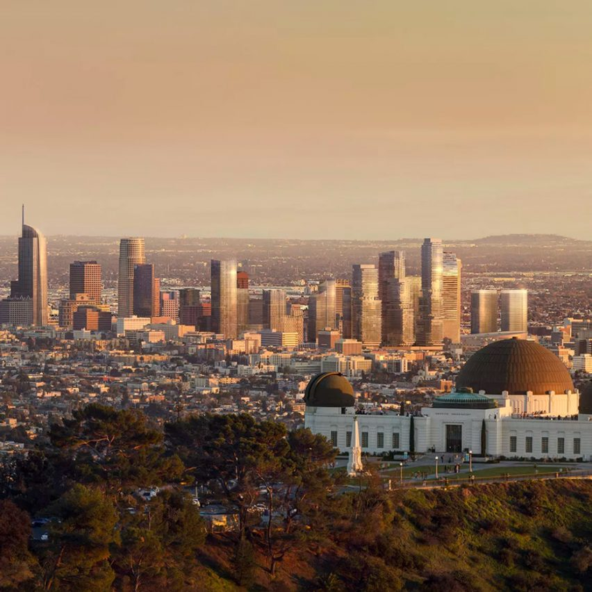 Los Angeles skyline in 2030