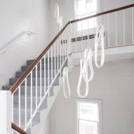 Bocci's 87 Series lighting is made from stretched loops of pearlescent glass