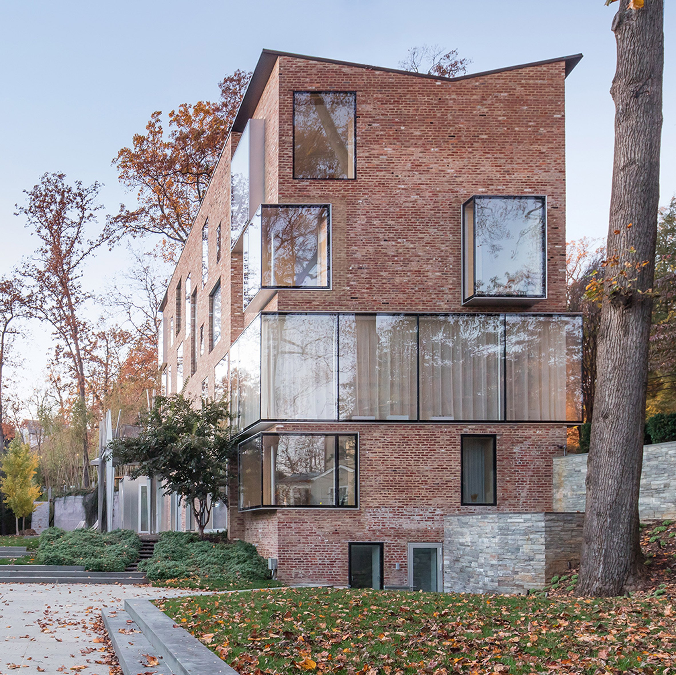 design and architecture in washington dc dezeen nadaaa overhauls brick house in washington dc with ample glazing and a plywood interior