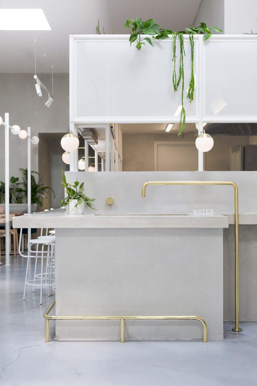biasol creates melbourne cafe interior based on 1950s greek