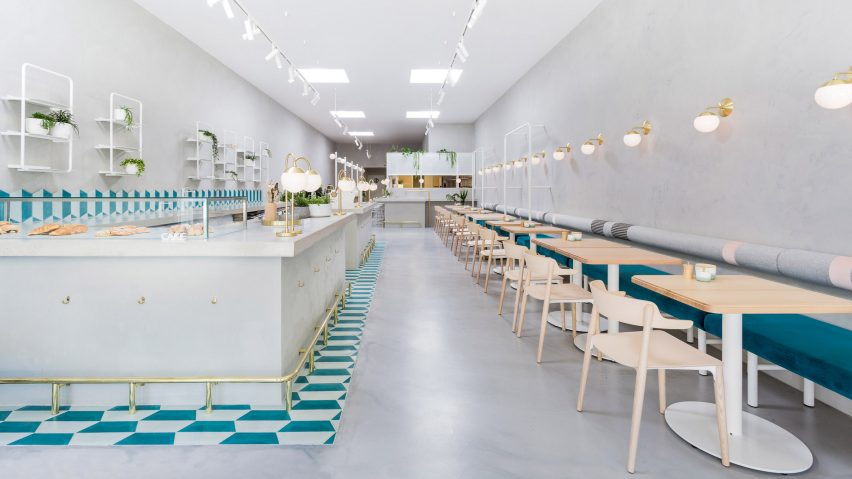 Biasol creates melbourne cafe interior based on 1950s for Interior design recruitment agencies melbourne