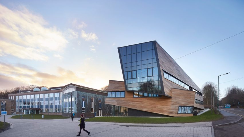 Daniel Libeskind Completes Larch Clad Cosmology Centre For Durham