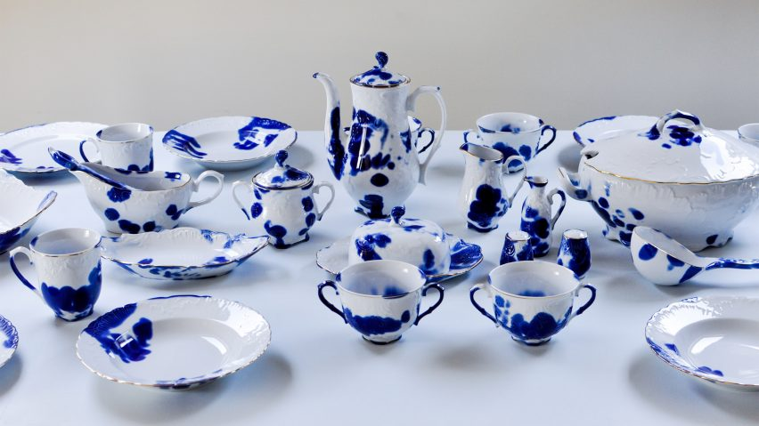 People from the Porcelain Factory & The Human Trace is traditional tableware marked with the ...