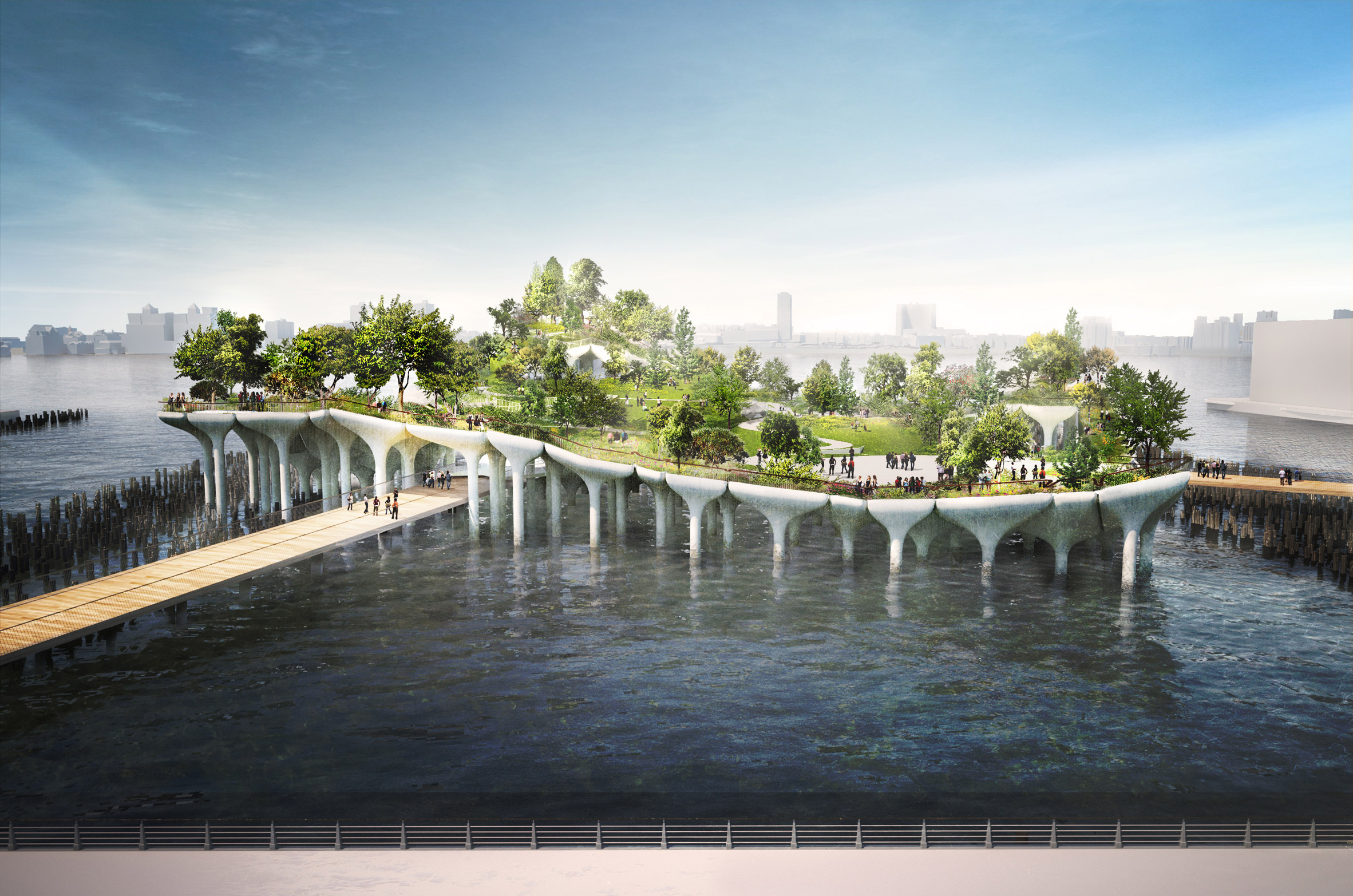 Heatherwick's Pier 55 park for New York now unlikely to go ahead