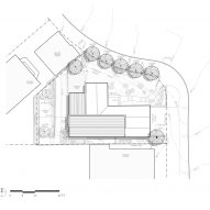 Site plan of A-to-Z House by SAW