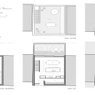 Plan for Maison Lagarde by LA Shed Architecture