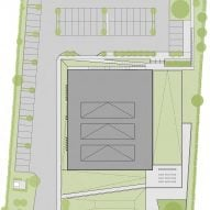 Site plan of Waterdown Library and Civic Centre by RDHA