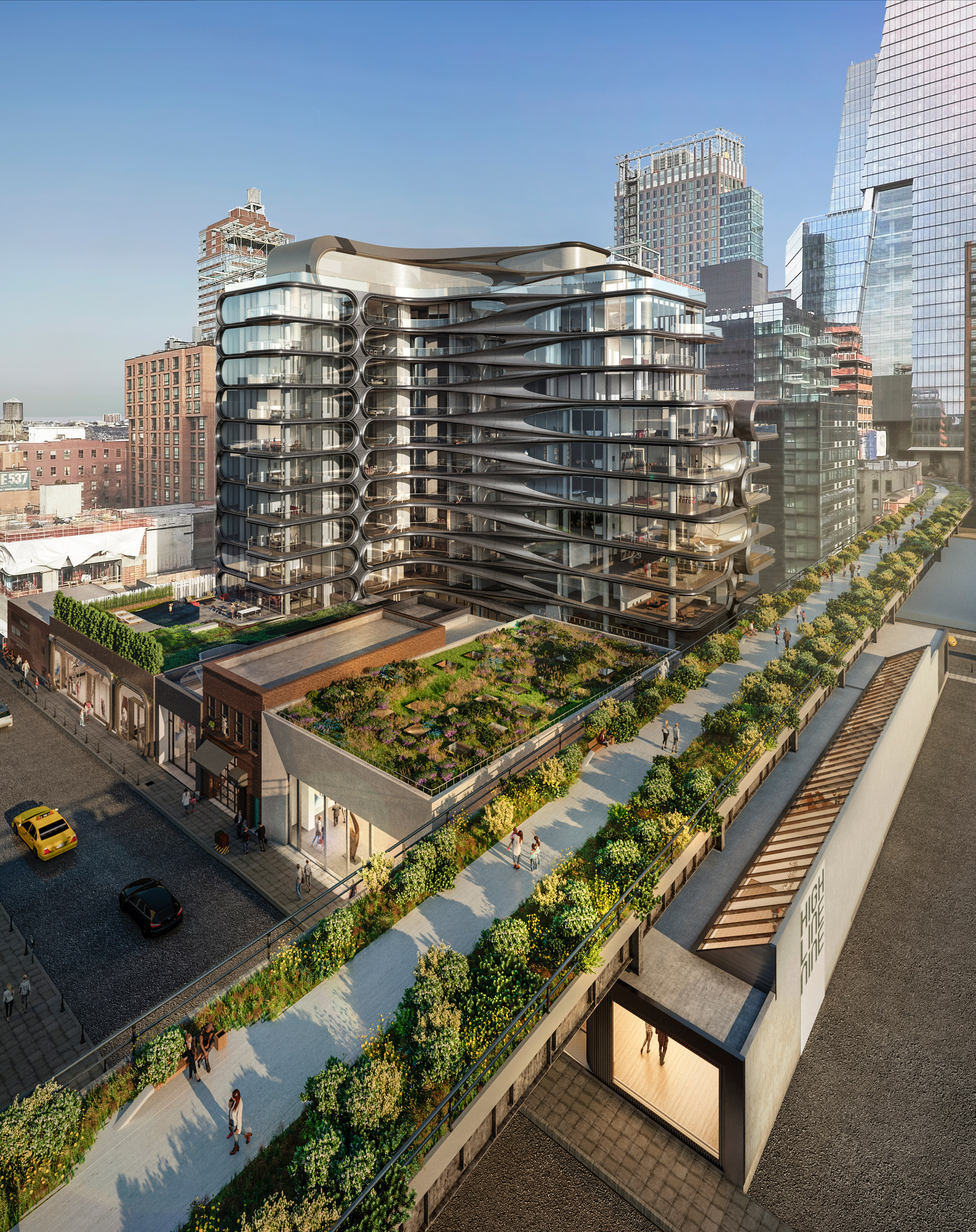 High Line Nine galleries to surround Zaha Hadid's New York condos
