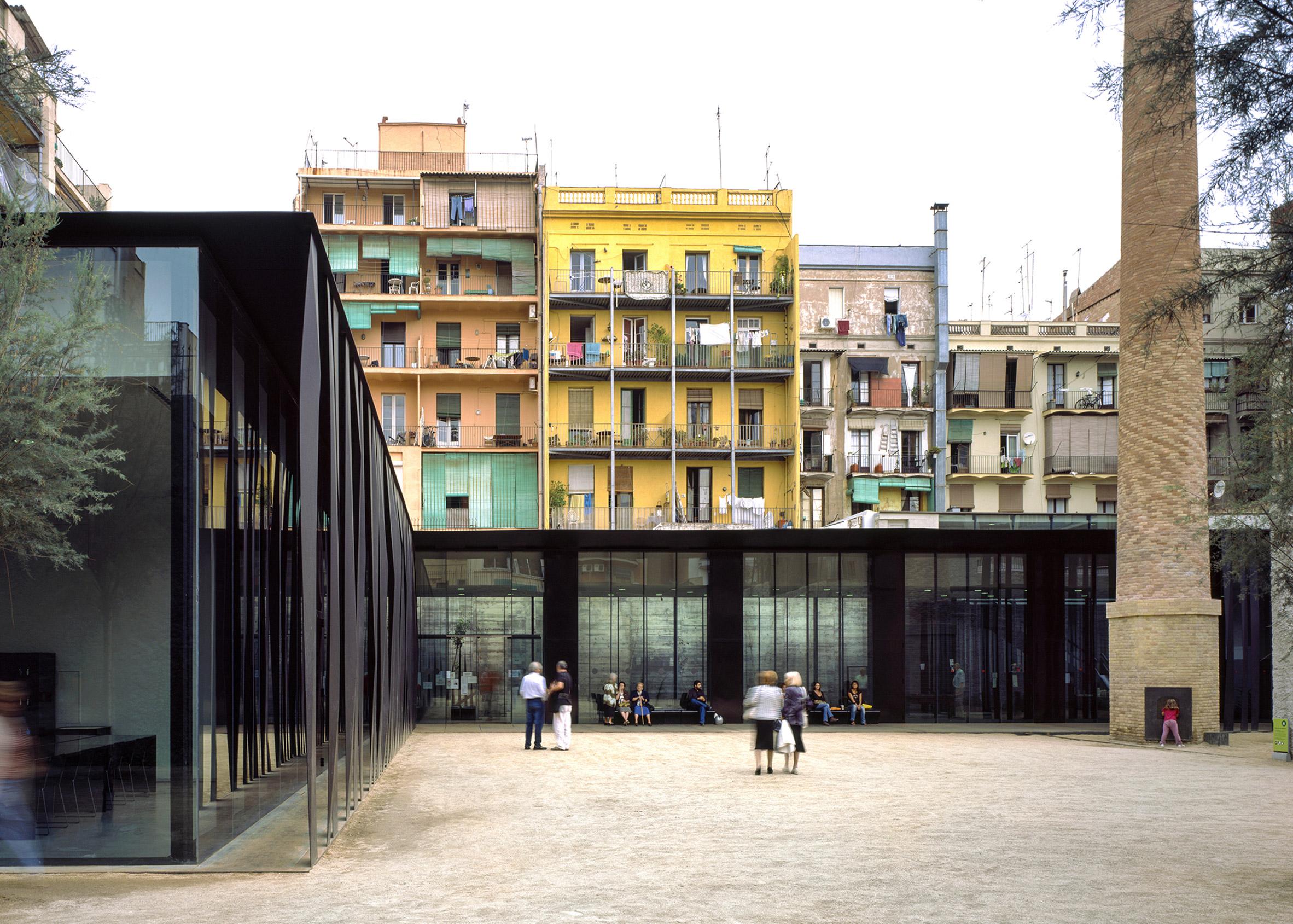 Sant Antoni – Joan Oliver Library, Senior Citizens Center and Cándida Pérez Gardens, 2007, Barcelona, Spain