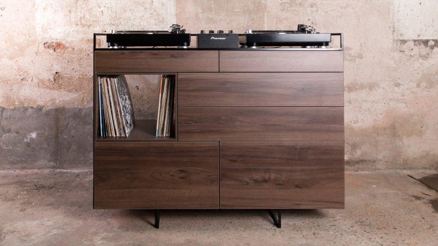 Studio Rik Ten Veldenu0027s Selectors Cabinet Combines Vinyl Storage ...