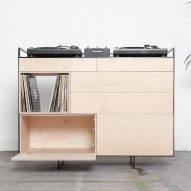 Studio Rik ten Velden's vinyl-storage cabinet doubles as a home DJ booth