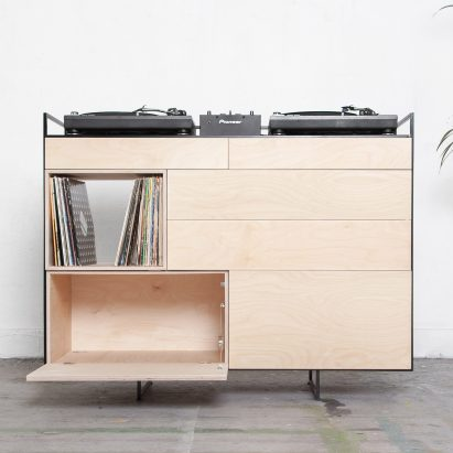 Studio Rik Ten Veldenu0027s Vinyl Storage Cabinet Doubles As A Home DJ Booth
