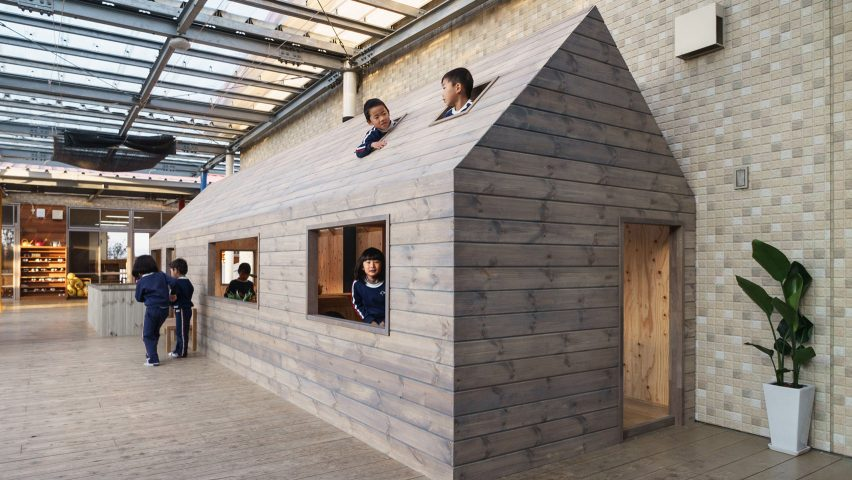 Hibinosekkei Installs Micro-House In Japanese Kindergarten To