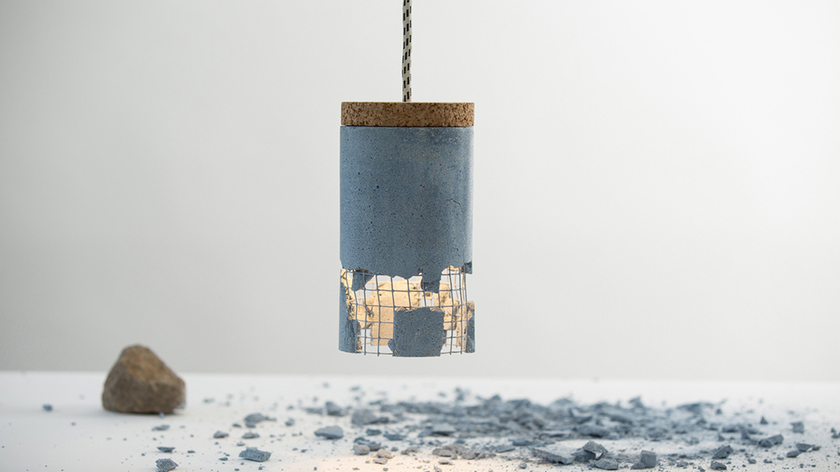 Smash Lamp by Bucharest-based designer Drago Motica
