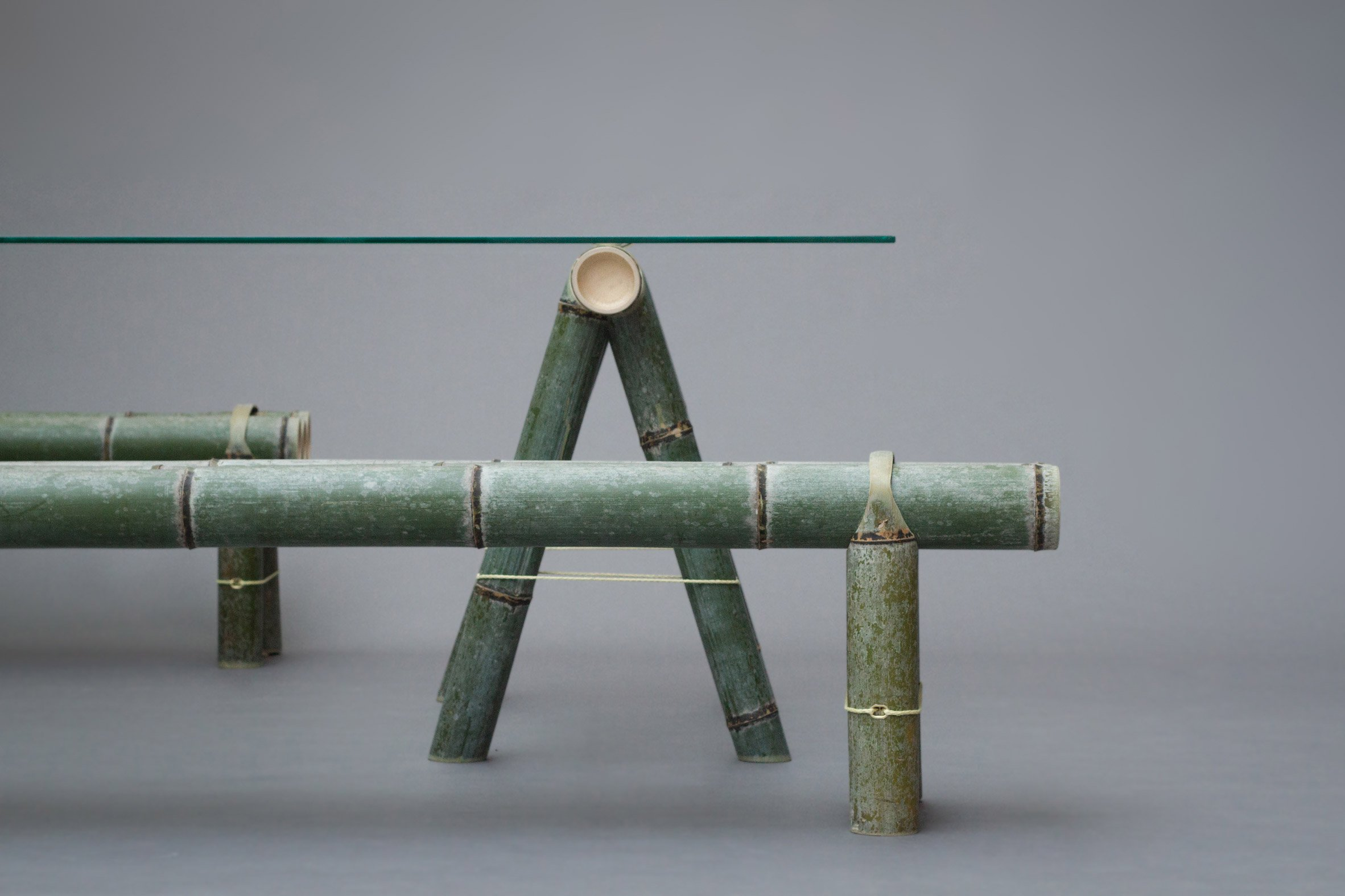 Bamboo Furniture Design Creative Dezeen Stefan Diezs Soba Bamboo Furniture Naturally Changes Colour Over Time