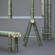 Soba bamboo furniture by Stefan Diez naturally changes colour over time