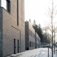 Oslo psychiatric centre by Hille Melbye features planted courtyards and decorative brickwork