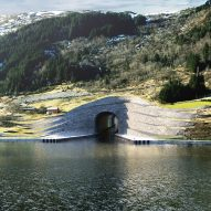 Snøhetta designs terraced stone entrances for Norway's huge Stad Ship Tunnel