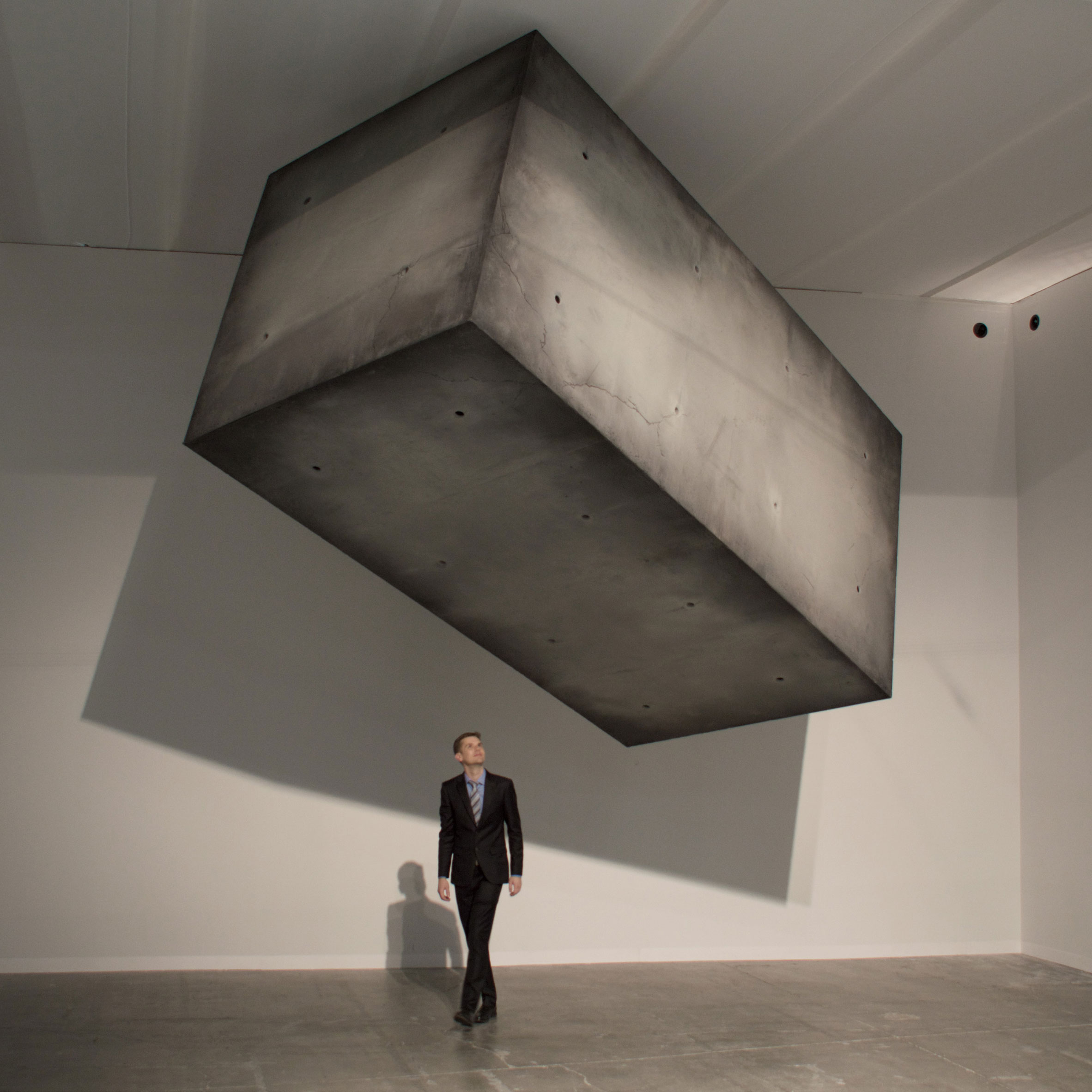Monolithic block appears to levitate for Studio Drift's Armory Show installation