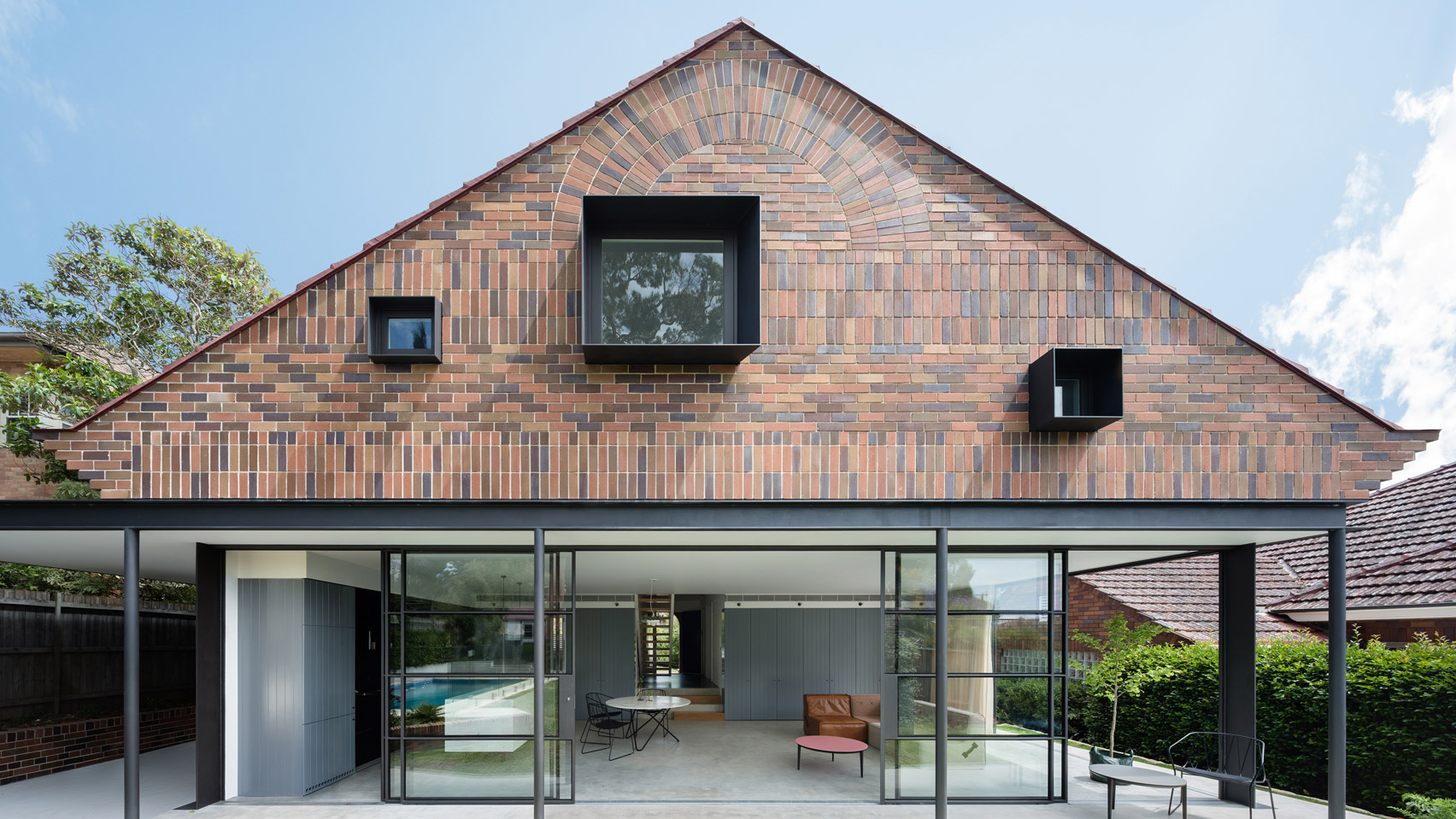 Tribe Studio Builds Sydney House Extension Featuring Brick Sunburst