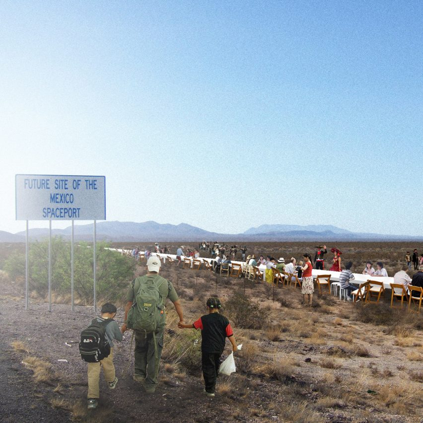 No-To-Scale imagines Trump's wall as a 1,954-mile-long dinner table