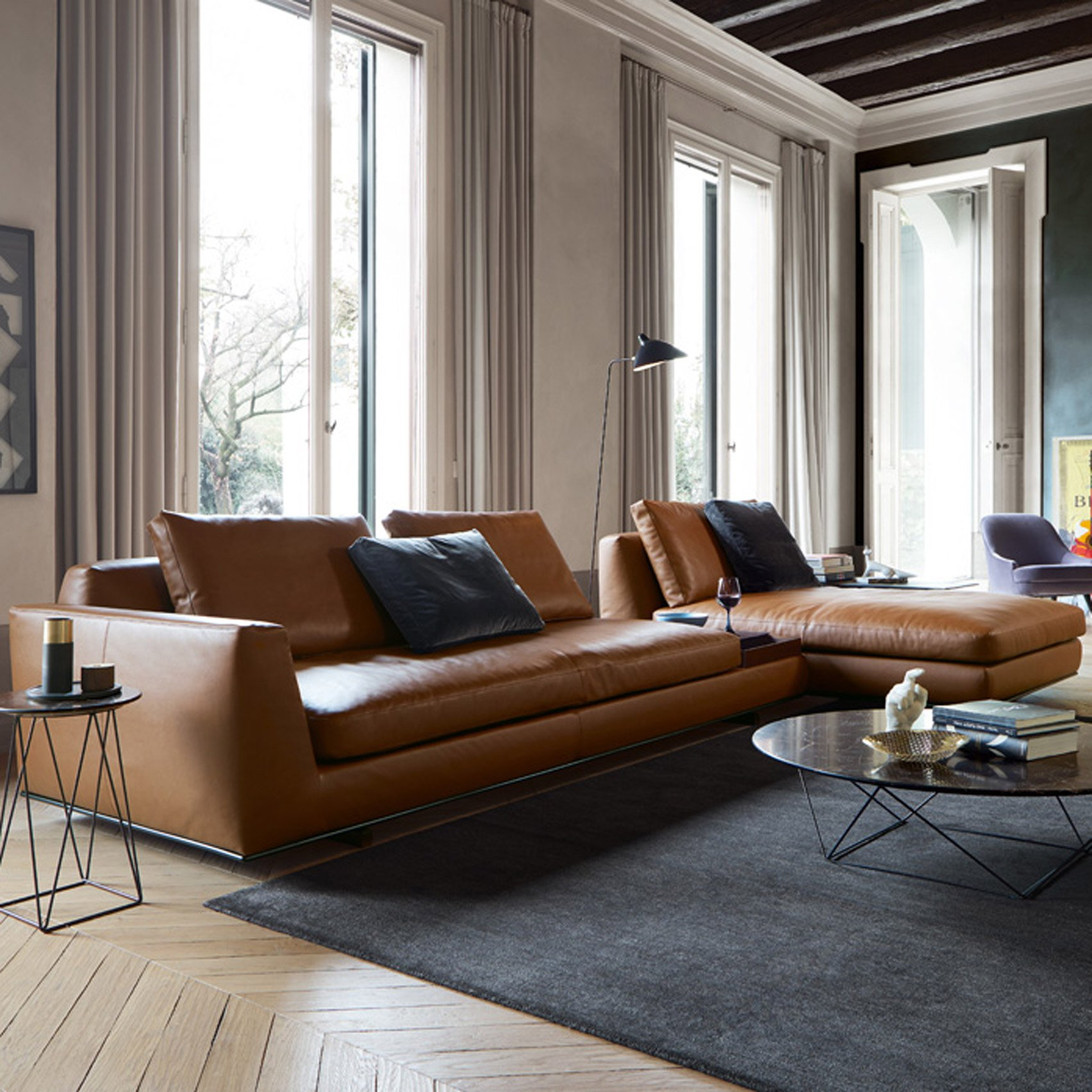 walter knoll walter knoll to present sofa with integrated accessories at milan design week. Black Bedroom Furniture Sets. Home Design Ideas