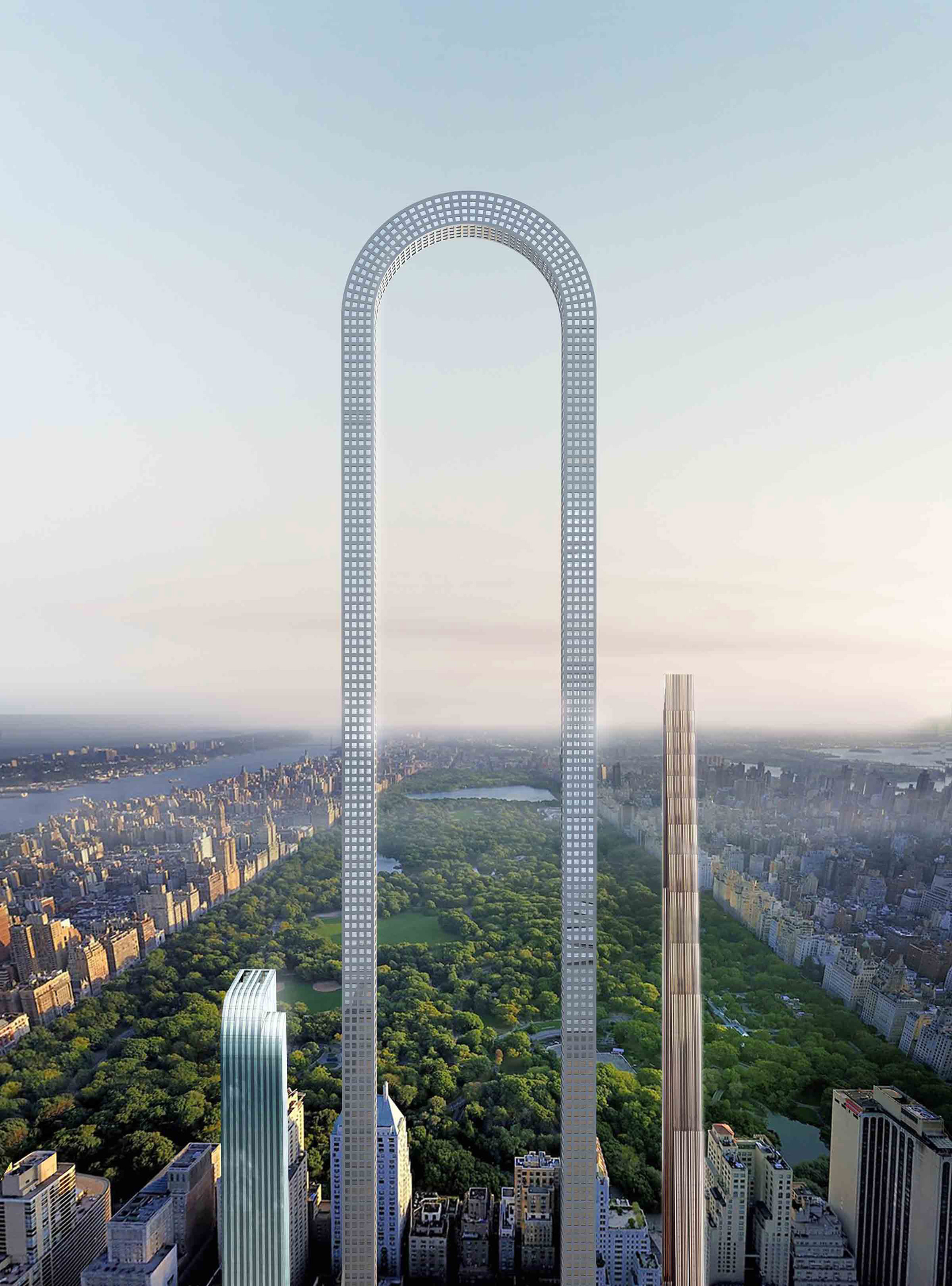 "Oiio imagines The Big Bend skyscraper for New York as ""the longest building in the world"""