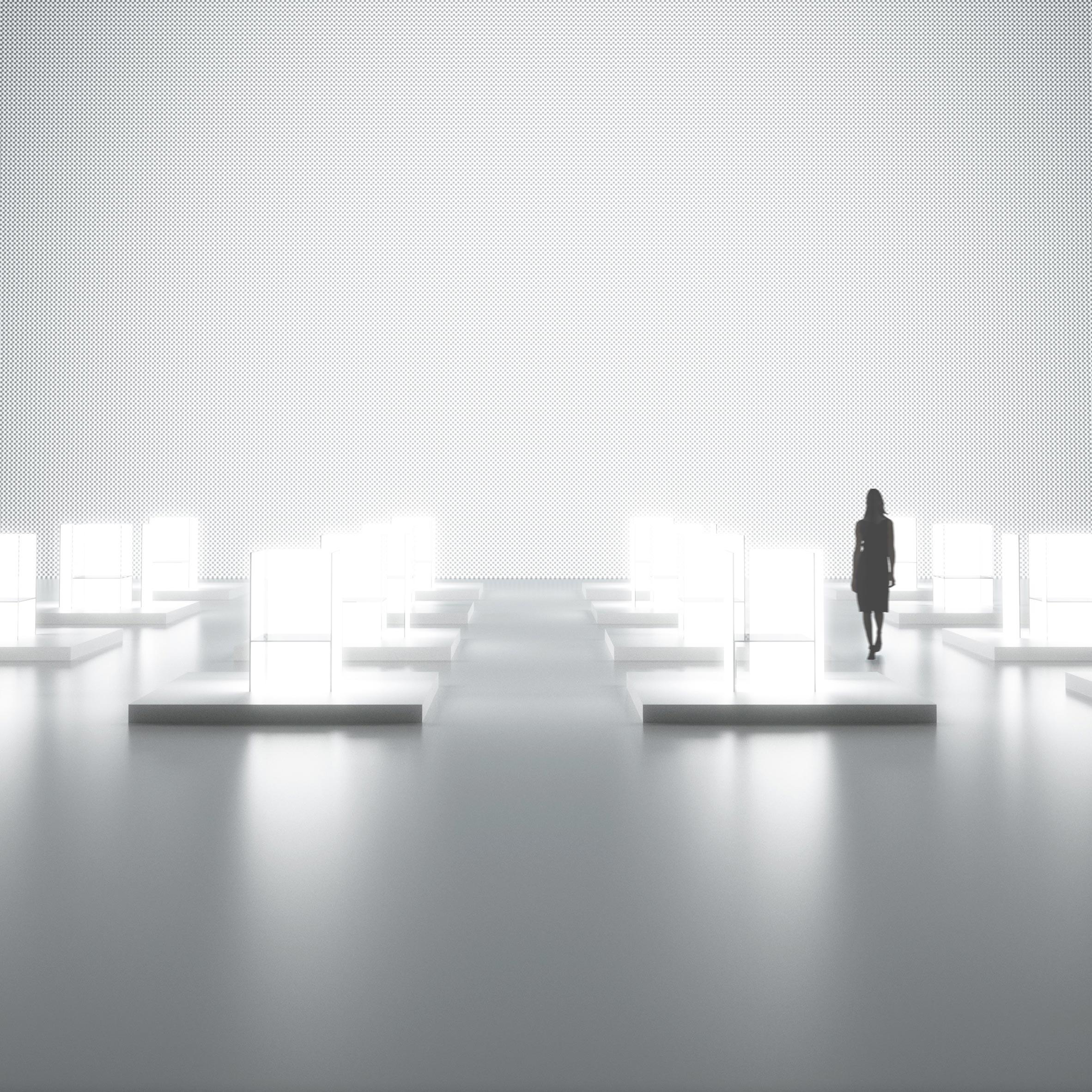 Tokujin yoshioka and lg to create huge light installation during milan design week