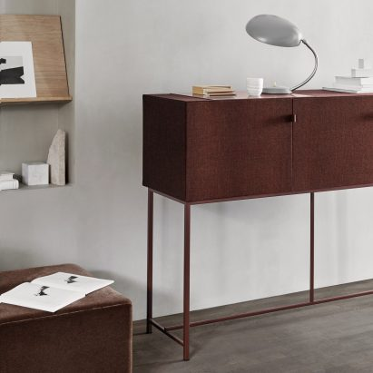 furniture design cabinet. norm architects designs fabriccovered cabinets to bring calm and quiet furniture design cabinet a
