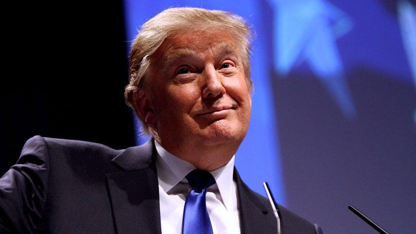 Portrait of president Donald Trump