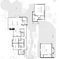 Plan of Tumble Creek Cabin by Coates Design