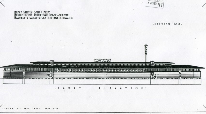 Unbuilt Banff Pavilion - Frank Lloyd Wright Revival Initiative
