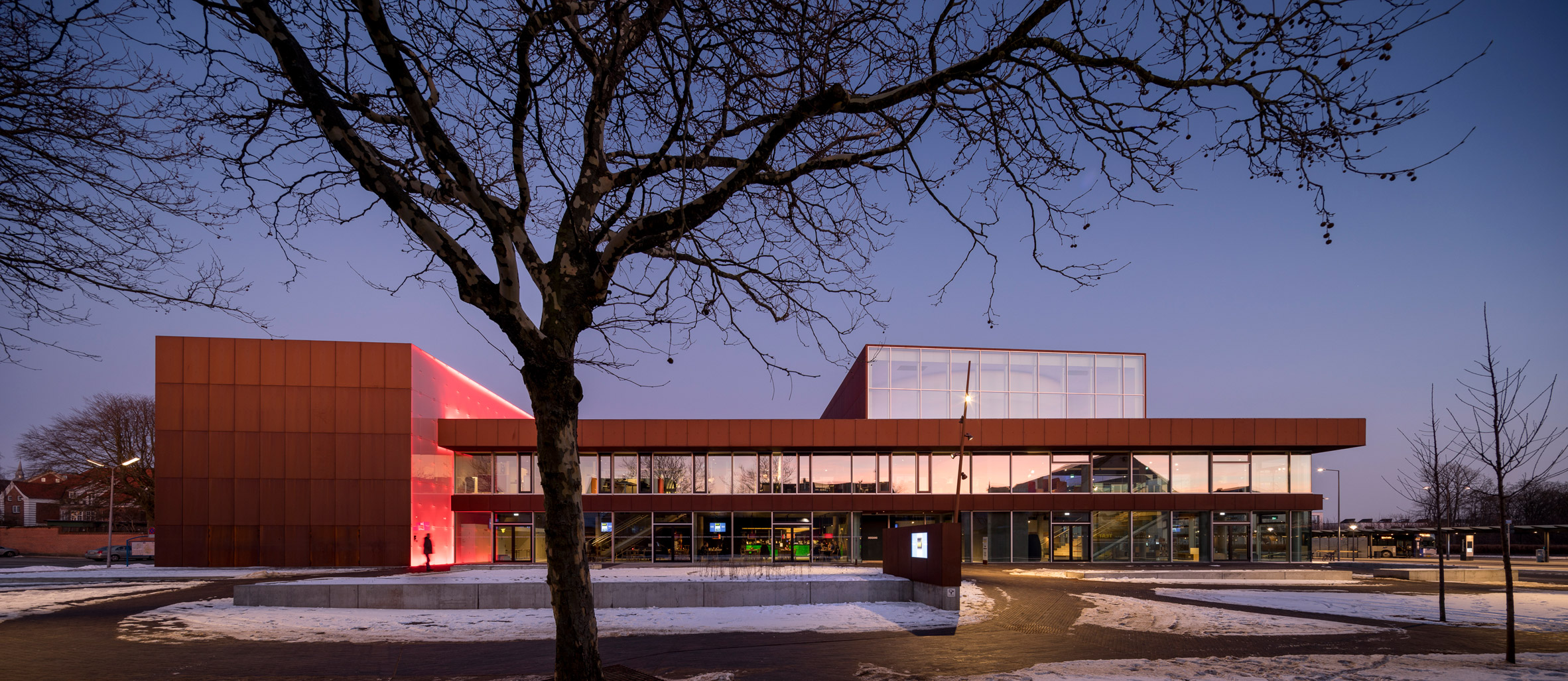 Schmidt Hammer Lassen pairs frosted glass with weathering steel for Vendsyssel Theatre
