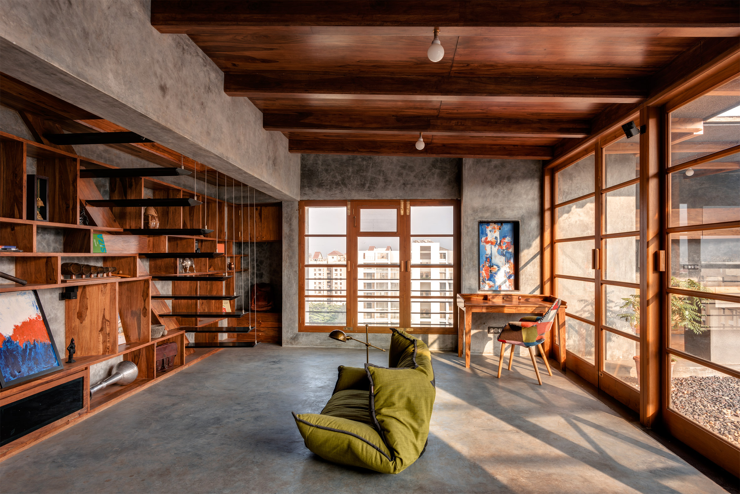 Penthouse apartment in India revamped by Studio Course to mimic a traditional veranda