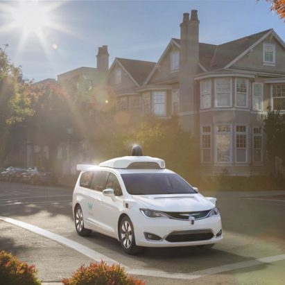 Self-driving Chrysler minivan by Google's Waymo