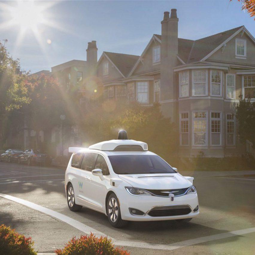 Self-driving Chrysler minivan by Google's Waymo